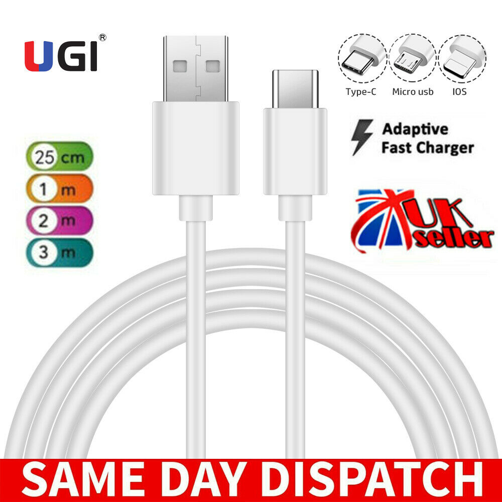 UK Seller Micro USB Type-c USB-C IOS 2A Fast Charger & Data Sync Cable For iPhone 12 11 X SE 7 6 5 Samsung S20 S10 S9 S8 Note 20 10 9 A3 A5 HTC